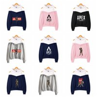 Apex Legends Off Shoulder Hoodies 20 Styles Letter Printed S...
