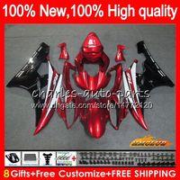 Body YAMAHA YZF R 6 600 YZF YZF600 YZFR6 06 07 Cadre 61HC.103 YZF R6 06-07 600CC YZF600 YZFR6 2006 2007 blk rouge chaud OEM carénages Kit