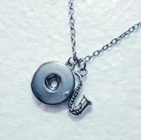 Bisutería Collar saxofón música Snap Button colgante, collar de la personalidad Cadenas hechas a mano Collares joyería de las mujeres 535