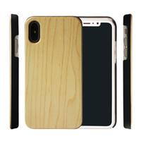 Baixo preço de fábrica venda de madeira phone case pc tampa traseira para o iphone x xs xr i6 6 s 7 8 plus tampa do telefone móvel de bambu samsung s10 s9