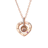 Fashion Love Memory Wedding Necklace Rose Gold&Silver Color ...