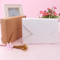 Regalo del partido de papel Kraft natural Cake Box alta calidad blanco Postre caja de embalaje de la galleta del caramelo nueces paquete de bricolaje cajas de embalaje LX9032