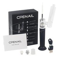Аутентичные CPENAIL Vape Pen Starter Kit 1100mAh Dab Rig GR2 чистый титан портативный воск испаритель Керамический кварцевый электрический H E ногтей стеклянные бонги
