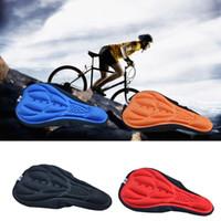 Mountain Bike Ciclismo addensato Extra Comfort ultra morbido silicone 3D del gel del rilievo copertura della sella della bicicletta sede 4 colori