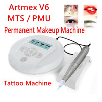 Digital Semi Permanente Maquiagem Máquina Tatuagem MTS Sistema PMU Sobrinhas Delineador Deliner Derma Pen ArtMex V6 DHL