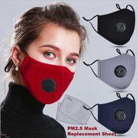 Lager resubalte ansiktsmask med andningsskydd Anti damm Justerbar skyddande kolflikter skyddande munmakare med 2 flit droppe Ship Epack