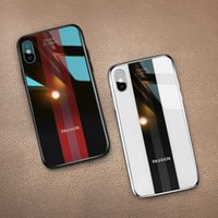 For iphone xs xr phone case Fashion sports car glass mobile ...