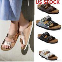 미국 주식, 애리조나 새로운 여름 해변 코르크 슬리퍼 플립 플롭 샌들 여성 / MenMixed 컬러 캐주얼 슬라이드 신발 플랫 무료 배송 36-46 fy9066