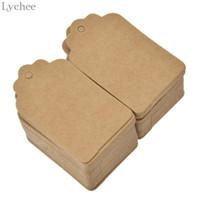Lychee 100 pcs carré blanc Étiquette de numéro papier carte étiquette de coup pour note Créer un signet laitier bricolage main Décoration