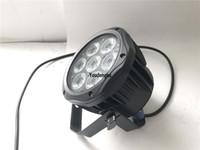 12 조각 7X18W LED 미니 파 수 빛 슬림 led 파 64 rgbwa uv 6in1 dmx 무대 조명
