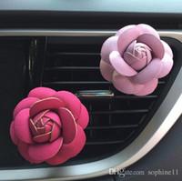 Rose Air Air Humidifier Óleos Essenciais Diffusers Veículos Purificador AR Vents de Carro Clipe Perfume Acessórios Auto Aroma Car Fragrância