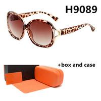 Ladies Designer 9089 Nuevas gafas de sol MÁS GRANDE METROS Hombres de alta gama y mujeres Retro Gafas resistentes a los UV con caja