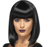 Perruques synthétiques Perruques de cheveux courts Bob wave Perruque de cheveux courts de femmes naturelles pour les femmes noires FZP177