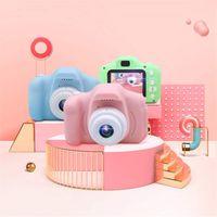 2インチのHDスクリーンの充電可能なデジタルミニカメラ子供漫画かわいいカメラのおもちゃ屋外の写真小道具子供の誕生日プレゼント