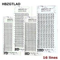 HBZGTLAD 16 Lines big capacity Premade Volume Fans 7 8 9 10D Lash Russian Strip Eyelash Extensions Individual Lashes Faux Mink