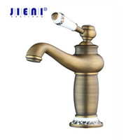 JIENI RU Antique Brass Faucet Stream Spout Tap Bathroom Basi...
