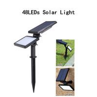 Solarlicht 48 LED Solar-Scheinwerfer im Freien Landschaftsbeleuchtung Garten Rasen Patio Yard Pfad Solarlampe