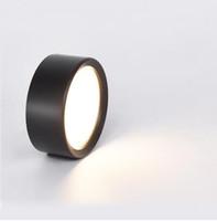 Downlight a LED montati a superficie rotonda 7W 9W 12W Lampade a soffitto Spot Light 220V Driverless Down Black / Bianco Corpo