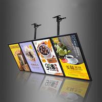 Fast Food Store Hang Menu Board Werbeanzeige Bildschild mit 4 stücke Lichtkartons Einheiten Holzkiste Verpackung (60x160cm)