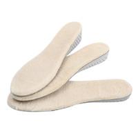 Botas de nieve de lana cálida unisex de invierno de 3 tamaños Plantillas de inserción de EVA de altura creciente Almohadilla de zapato Plantilla invisible
