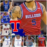 Louisiana Tech Bulldogs Basketball Jersey NCAA Karl Malone DAQUAN Bracey Ledoux Amorie Archibald Jean Muhammed P. J. Brown Millsap