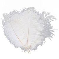 Белый страус перо шлейф 20-25см для свадьбы центральным Свадебный декор партия декор поставки feative декор