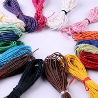 10 Meter 1,5 MM Gewachste Lederfaden Wachs Baumwollkordel String Strap Halskette Seil Perle Für shamballa Armband DIY Schmuck Linie Großhandelspreis