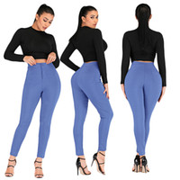 Large size Women Denim Skinny Jeggings Pants High Waist Stre...