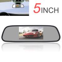 Freeshipping Car Mirror Monitor Super 480 x 272 Color TFT LCD Pantalla Gran Angular de visión 5 pulgadas Car Rear Mirror Monitor