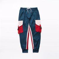Erkek Pantolon Erkek Vintage Kargo Pantolon Erkek Hiphop Koşucular Pantolon Erkek Moda Sweatpants Kış tulumları Cepler