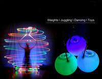 LED Main Props Hot vente femmes led poi lancé boules pour accessoires main accessoires de danse du ventre en vente 50 PCS SN2693