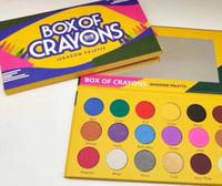 maquillage dropshipping EYESHADOW palette Boîte de palette Produits de beauté de 18 crayons de couleurs Shimmer Beauté Matte Ombre à paupières LE CAS CRAYONS