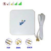 4G 3G антенна MIMO 35DBI Высокое усиление с присосным чашкой Dual SMA TS9 CRC9 Разъемы мужчин для модема Booster Router Router Repeater