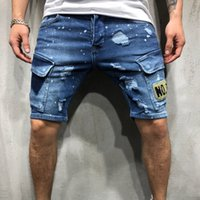 European size loose 2019 NEW summer denim shorts Embroidered...