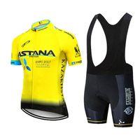 Equipe Astana Cycling Jersey 2020 do Men Short Jersey ropa ciclismo hombre ciclismo ciclismo desgaste Clothes Set bicicleta 20D Gel Pad
