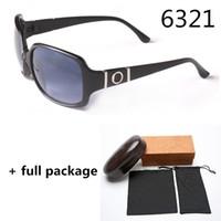 مصمم النساء العلامة التجارية 6321 النظارات الشمسية الأزياء الفاخرة uv حماية نظارات الشمس 3 ألوان مع مربع القماش