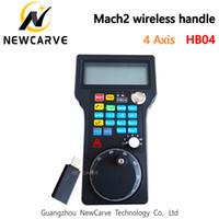HB04 CNC Mach3 4 Axis MPG Hanger Draadloze Handwiel Pulse 50PPR optische encodergenerator voor CNC-router NEWCARVE