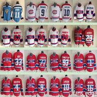 Montréal Canadiens Clássico de Inverno # 4 Jean Beliveau 10 Guy Lafleur 33 Patrick Roy 11 Saku Koivu Homens Gelo Hóquei Jersey
