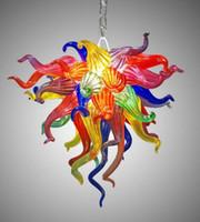 다채로운 무라노 유리 샹들리에 led 손으로 만든 유리 아트 샹들리에 램프 복도 거실 침실에 대 한 귀여운 도매 펜 던 트 라이트