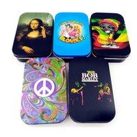 Depolama Ürünleri Stash Kavanoz Teneke Vial Kılıf Sigara Kuru Ot Çoklu Kullanım moistureproof için metal Tütün Konteyner Bob Marley Saklama Kutusu
