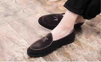 새로운 금속 버클 슬립 유명 브랜드 남성 얕은 입 게으른 사람 레크리에이션 작은 신발 영국 인기 빌드 헤어 스타일 신발