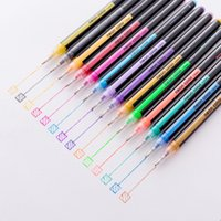 Creative stationery 12 color green suit flash color pen wate...