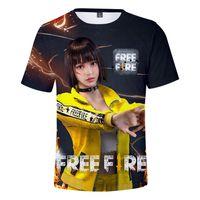 Freie Feuer Zeichen 3D Gedruckt Casual Mens Designer T-shirts Sommer Männlich Weiblich Rundhalsausschnitt Kurzarm T-stücke