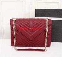 Famous Schaffell-Einkaufstasche Schulterbeutel V-Muster aus echtem Leder Handtaschen Mode Umhängetasche Marken Tasche Handtasche großer Größe 30cm
