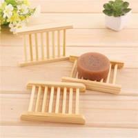 Prático e Banho Conveniente Soap bandeja Handmade de madeira do sabão do prato Box Pratos de sabão suporte de madeira para o lar frete grátis