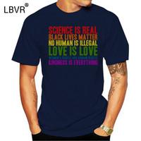 2020 Imprimé hommes T-shirt manches courtes en coton La science est vraie vie noire Matière T-shirt des femmes t-shirt