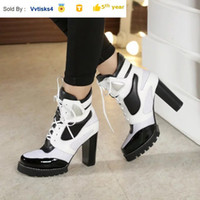 Liujingang6 8039 classic lace- up booties Riding Rain Boot BO...