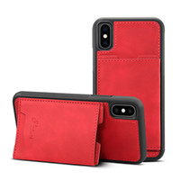 Leather cover case For iPhone 6 6s Plus 7 7Plus 8 8plus X XS...