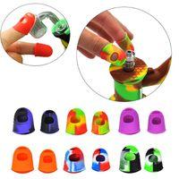 Paar-Silikon Hitzebeständig Finger Abdeckung Hitzebeständige Wärmedämm-Finger-Handschuhe NC Kit Set Dab Rigs Wachsöl Werkzeug Rauch Zubehör