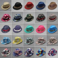 36 designs fashion Unisex casual fedora trilby hat Baby kids...